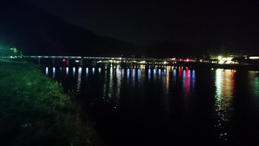 京都の観光スポット「嵐山」名所~渡月橋の夜景